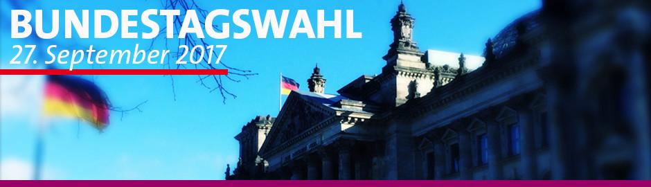 Banner zur Bundestagswahl 2017