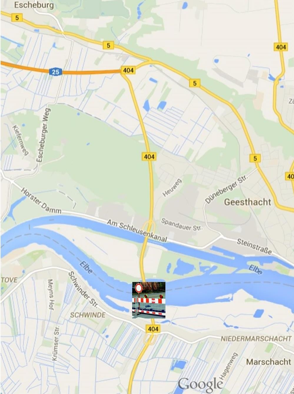 Fotomontage mit Google-Maps